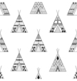 Hand drawn American native wigwams seamless vector image vector image