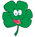 Happy Green Clover Cartoon Character vector image vector image