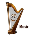 Happy harp in a music concept vector image vector image