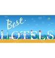 Inscription Best hotels vector image