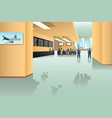 inside airport scene vector image vector image