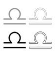 libra symbol zodiac icon outline set grey black vector image vector image