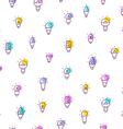 Light bulbs seamless pattern vector image vector image
