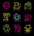 line icons power tools vector image vector image