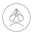 Mining industrial scoop line icon vector image vector image