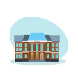 modern university building educational system vector image vector image