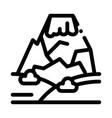 mountain concept icon outline vector image vector image