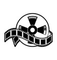 movie roll reel vector image