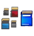 Multimedia and memory cards set vector image