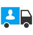 Passenger Transport Van Flat Icon vector image