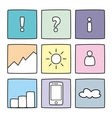 Pastel icon set vector image