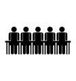 people in meeting symbol vector image vector image