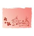 Pink swirl grunge background vector image