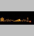 podgorica light streak skyline vector image vector image