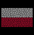 polish flag pattern of uncle sam hat icons vector image