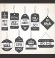 price tag retro vintage collection vector image vector image