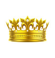 realistic or 3d golden crown for king or queen vector image