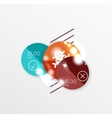 Round Christmas sale stickers with winter holiday vector image