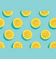 slices of fresh yellow lemon summer background vector image