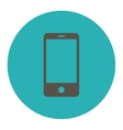 Smartphone flat grey and cyan colors round button vector image vector image