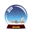 snow globe city germany berlin in snow globe vector image