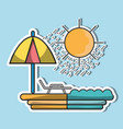 sun seat with umbrella to vacation vector image vector image