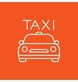 Taxi line icon vector image vector image
