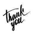 thank you handwritten inscription vector image vector image