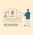 the concept of hiring recruitment agencies vector image