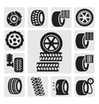 tire icons vector image vector image