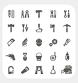 Tool icons set vector image