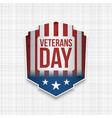 veterans day usa patriotic sign vector image