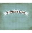 vintage dot card vector image vector image