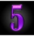 violet plastic figure 5 vector image
