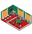 interior casino isometric view vector image