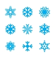 Snowflake icon set isolated on white background vector image
