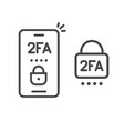 2fa icon line password secure login authentication vector image