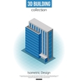 3d isometric tall building icon for map building vector image vector image
