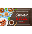 advertisement banner for oktoberfest sale vector image vector image