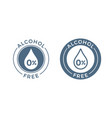 alcohol free icon skin and body care cosmetic vector image vector image