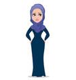 Arabic business woman cartoon character vector image