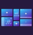 audio player ui video media ux interface template vector image