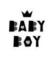 baby boy lettering vector image vector image