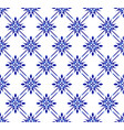 blue and white floral pattern vector image vector image