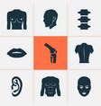 body icons set with listen backbone