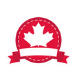 canada day maple leaf canadian flag color sticker vector image