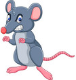 cartoon rat with angry expression vector image vector image
