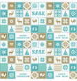 Christmas and New Year patchwork pattern vector image vector image