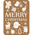 christmas card wood vector image vector image