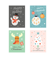 Christmas Cards 2 vector image vector image